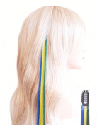 Fun Clips for fans of Em - Clip On Hair Extensions 45 cm - Brazil - Green, Yellow, Blue