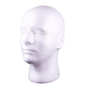 Bluelans® White Male Foam Mannequin Manikin Head Model Wig hair Glasses Hat Display Stand
