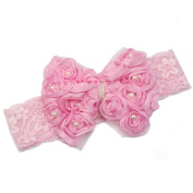 Jellbaby Baby hair accessories baby cute princess headdress flower lace ribbon.