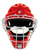 Baseball/Softball FORCE3 - The SAFEST Catcher's Mask ever made! (Hockey Style) Adult. NOCSAE Certified. Silver