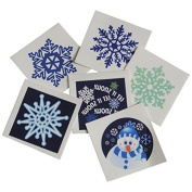 Assorted Winter Snowflake Snowman Theme Temporary Tattoos (144) by U.S. Toy