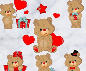 Skyllc® Love Bear Wall Stickers Bedroom background wall decoration sticker colourful Kids Room Mural