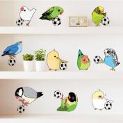 Birdie Parrots Chicks Footballs Wall Sticker Decal Home Decor PVC Murals Wallpaper House Art Picture Living Room Adult Senior Teen Kids Baby Bedroom Decoration