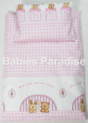4 Piece Travel Set/Scatter Filled 17-18 Inner & Cover Bear And Rabbit Pink