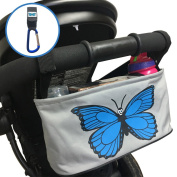Quality Buggy Pram Organiser Bag with Lid, Universal fit for babies stroller, pushchair or buggies