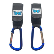 2 Buggy Clips For Prams, Attach Your Universal Fit Stroller Hooks Securely Onto Pushchair And Hook Shopping Bags