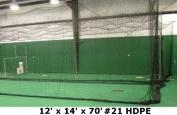 3.7m x 4.3m x 21m #21 HDPE Medium Duty Baseball Softball Batting Cage Net Netting