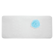 InterDesign Soft Cushion Non-Slip Suction Mat for Shower, Bathtub - Extra Long, White