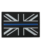 Kombat Thin Blue Line Patch PVC With Hook and loop Backing
