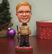 18cm A Christmas Story Ralphie with Red Ryder BB Gun Headknocker