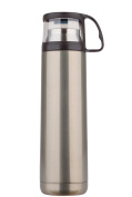 Stainless Steel Vacuum Thermos Mug Travel Drink Bottle Colour Optional,Silver