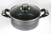 Mastercook Heavy Duty Non Stick Ceramic Coated Casserole With Glass Lid