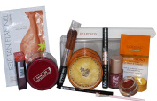 12pc Rose Gold & Bronze Makeup Giftset, inc Cover Girl, Sleek, Loreal & Champneys