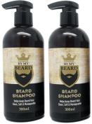 x2 By My Beard- Beard Shampoo Wash Men's Moustache Grooming Care Facial Hair Oil