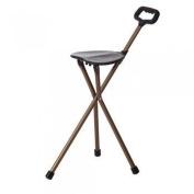Folding Aluminium Walking Stick with Seat