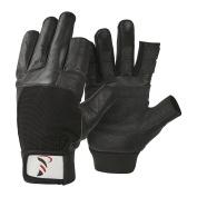 DBSC Short Finger Sailing Gloves Soft Leather Cut Finger Sailing Gloves with Super Grip Palms