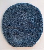 Fast Track Non-Skid Universal Toilet Seat Lid Cover from Regence Home, 46cm x 46cm Blue
