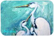 """Caroline's Treasures MW1159JCMT """"Mother's Love White Crane"""" Kitchen or Bath Mat, 60cm by 90cm , Multicolor"""