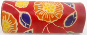 Indian Hand Embossed Colourful Floral Design Red Lipstick case with Mirror-Shantiniketan Pure Leather