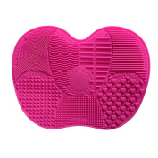 Molie Makeup Brush Cleaning Mat Cosmetic Brush Cleaner Pad Silicone Washing Tool Scrubber Suction Board Rosy