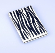 Unbreakable Steel Travel Mirror - Zebra print. This mirror will never break in your hand bag