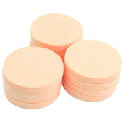 12 Pcs Circular Wet and Dry Dual-Use Makeup Sponge Powder Puff Air Cushion Sponge for BB CC Cream Liquid Foundation Blush and Loose Powder