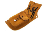 Archery Traditional Suede Leather Side Quiver. ( Dark Brown For Right Hand And Yellow For Left Hand).