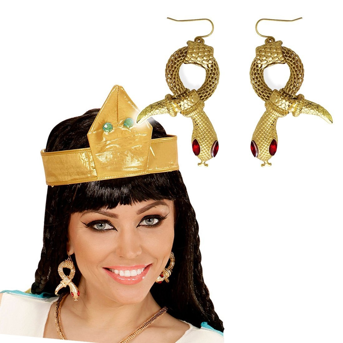 34ee872360a Snake earrings pharaoh Cleopatra ear studs Egyptian jewellery Egypt Queen  jewellery ancient Goddess attire Costume accessories ladies