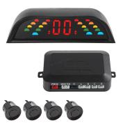 Parking Sensor - BANGWEIER 4 Sensors + Intelligent Digital LED Vehicle Parking Assistance System with Car Cigaratte Lighter
