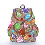 Snoogg Lollipop Fashion Backpack For Women Printed Shoulder School Travel Camping Backpack Rucksack For Ladies Girls