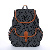 Snoogg Silvery Pattern Fashion Backpack For Women Printed Shoulder School Travel Camping Backpack Rucksack For Ladies Girls