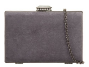 Womens Ladies Faux Suede Hard Box Prom Party Evening Dressy Occasion Hand Clutch Bags - Z92
