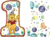 Winnie The Pooh Number One Foil Balloon (Uninflated) [Toy] by Party2u