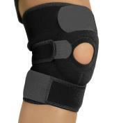 Amotus Knee Brace Support -Adjustable Breathable Neoprene Knee Band - Open Patella Knee Protector for Sport, Arthritis, ACL, Running, Basketball, Meniscus Tear, Pain Relif