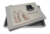 White Cotton Cards Wedding Day Tiny Album
