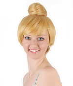 Girls Short Blonde Fairy Princess Bell Party Hair Fancy Dress Cosplay Wig with Cap 30cm