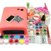 Coscelia Uv Acrylic Nail Gel 36W Lamp Kit For Teenagers Nail art designs Set