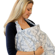 Pasway Breastfeeding Cover Cotton Nursing Scarf with Wet Dry Bag