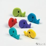 Whale Erasers/Sunday School/School Supplies/party Favours/Party Supplies/Toys 48 count by FX
