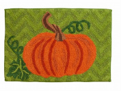 Harvest Season Pumpkin Throw Rug 20x30 Skid Resistant Bath Mat