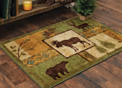 Tranquil Forest Moose Accent Rug - 2 x 3