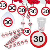 30th birthday balloon traffic sign 30 cm decorative inflatable party accessories road sign Party balloon anniversary deco utensils jubilee articles Figures balloon