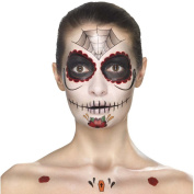 Make-up set Dia de los Muertos Makeup kit Sugar Skull multiple parts red - black Calavera Beauty utensils Day of the dead tattoos Halloween greasepaint Mexican death mask
