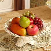 FPZLL European-style high-grade / ceramic fruit plate / home living room coffee table decorations / dried fruit plate