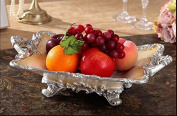 FPZLL European fruit plate / practical square / home ornaments Decoration / luxury resin / fruit plate / high-end creative restaurant gifts