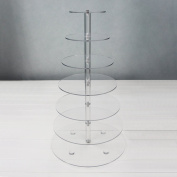 Cadillaps 7 Tier Clear Acrylic Cupcake Stand Tower Tree Round Stacked Dessert for Wedding Birthday Party