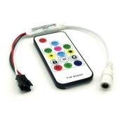 300 Kinds of Changes Digital RGB LED Strip Controller with 14Key RF Wireless Remote for DC5V/12V/24V WS2812B WS2812 Strip