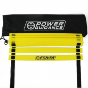 Power Guidance Agility Ladder (5.8m) for Speed & Agility Trainning - with 12 Heavy Duty Plastic Rungs, Ground Stakes, Carry Bag & 8 Sports Cones