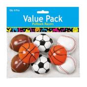 Plastic Pullback Sports Balls