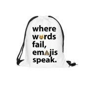 1pcs Emoji Speak Backpack Girls' 3d Printing Travel Feminina Drawstring Bag Swiming Backpack for Kids